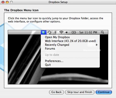 Installtion Dialog Box