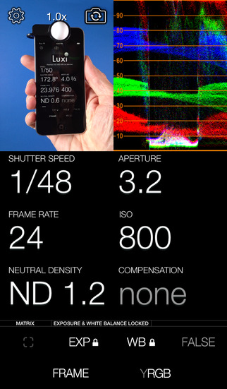 Adam Wilt's CineMeter II for iPhone
